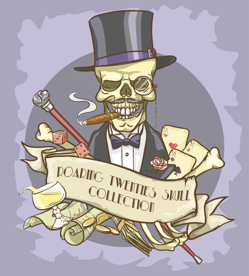 Gentleman skull vector