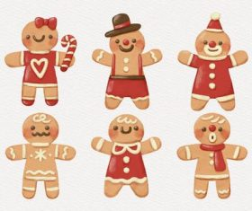 Gingerbread character flat vector
