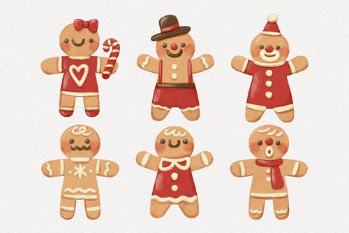 Gingerbread character flat vector