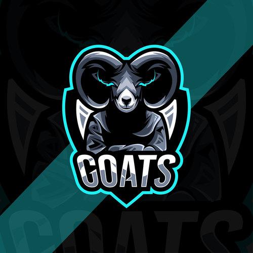 Goats esport logo vector
