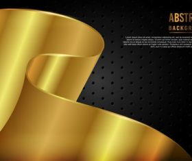 Golden luxury dynamic background vector