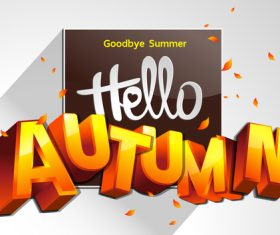 Goodbye summer background card vector