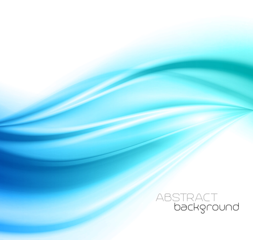 Gradient blue dynamic abstract background vector
