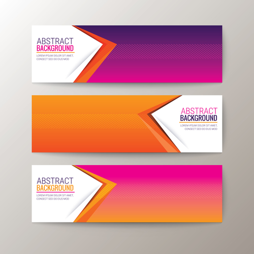 Gradient color abstract background banner vector