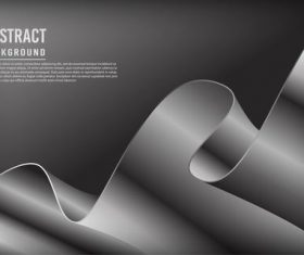 Gray luxury dynamic background vector
