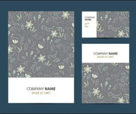 Gray printing pattern company business card vector