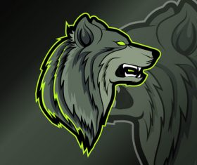 Gray wolf sports and esports logo vector