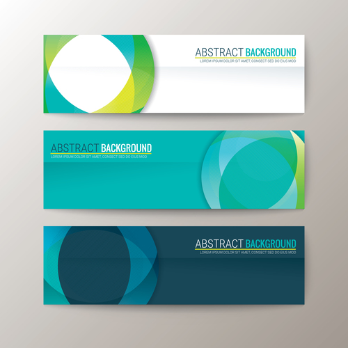 Green and dark green abstract background banner vector