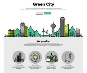 Green city flat graphic concept vector