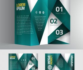Green stripe brochure vector