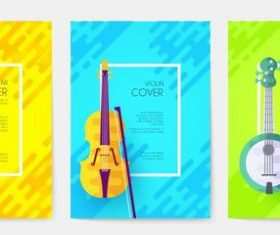 Guitar cover musical instrument banner vector