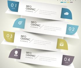 Half arc business infographic element option vector