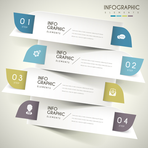 Half arc business infographic element option vector