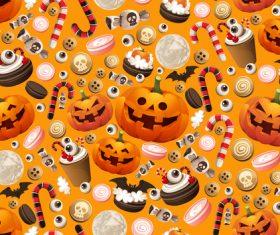 Halloween background pattern vector