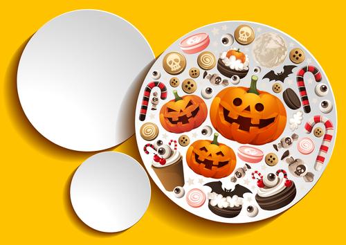 Halloween element disc vector