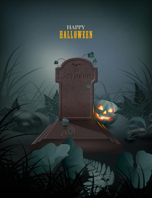 Halloween themed vector illustration