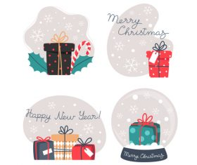 Happy new yean gift illustration vector