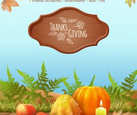 Happy thanksgiving vector card