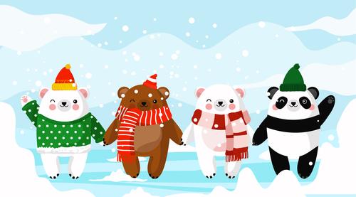 Harmony animals cartoon vector