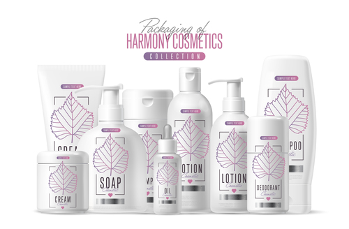 Harmony cosmetics and packing vector