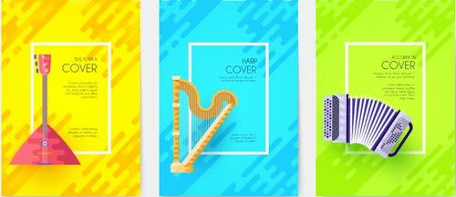 Harp cover musical instrument banner vector