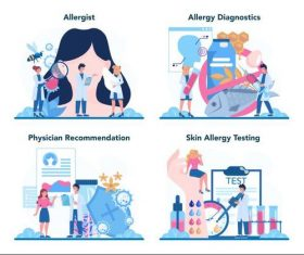 Health check cartoon illustration vector