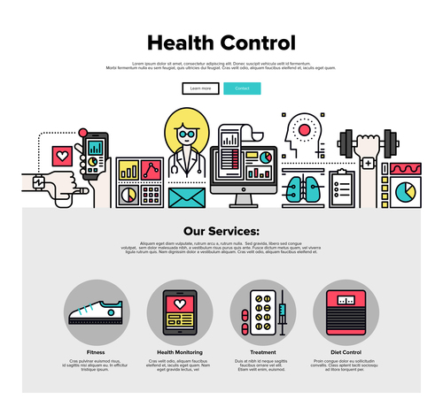 Health control flat graphic concept vector