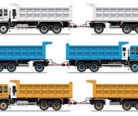 Heavy trailer vector