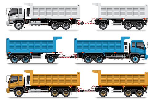 Heavy trailer vector
