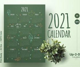 Hello calendar 2021 vector