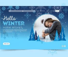 Hello winter beautiful card vector