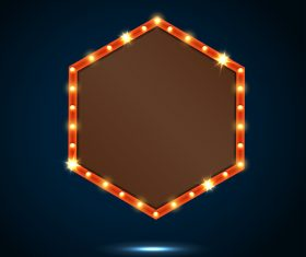 Hexagon billboard vector