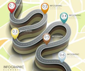 Highway infographic options vector