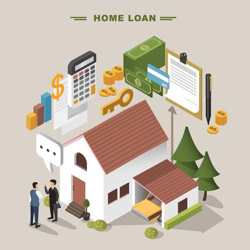 Home loan concept vector