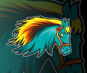 Horse sports and esports logo vector