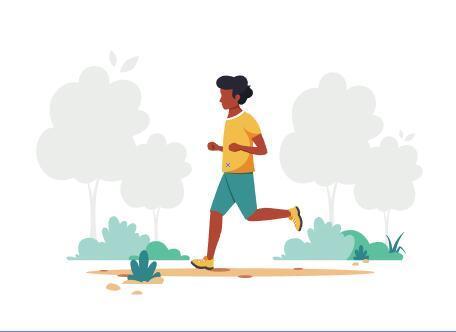 Jogging man cartoon illustration vector