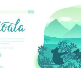 Koala silhouette illustration vector