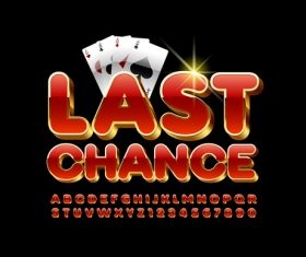 Last chance letters vector