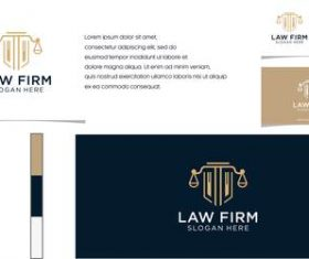 Law firm logo business card vector