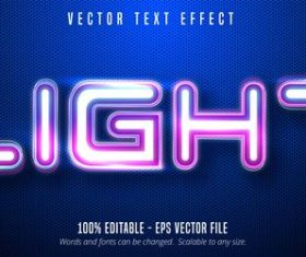 Light color editable font effect vector