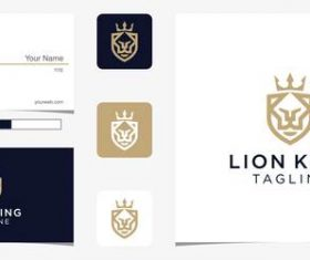Lion king logo design vector