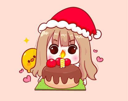 Little girl birthday cartoon vector
