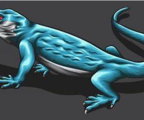 Lizard hand drawn illustration vector