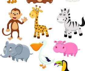 Look at the picture to recognize the animal cartoon vector