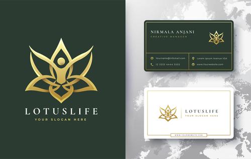 Lotus life cover logo design vector