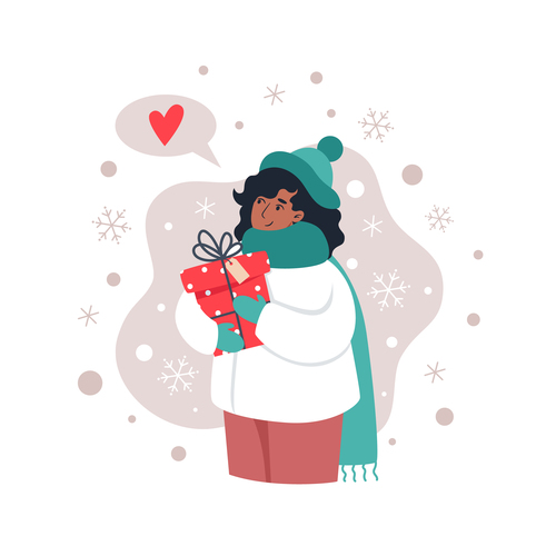 Love gift illustration vector