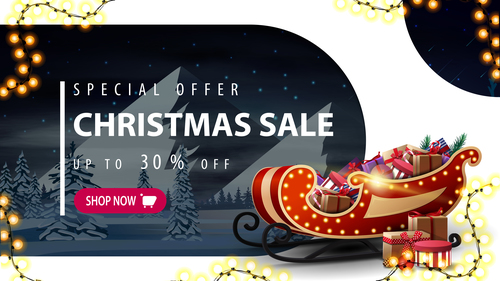 Low price promotion christmas flyer vector