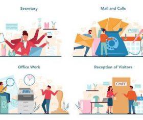 Mail and calls cartoon illustration vector