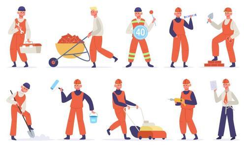 Maintenance worker cartoon illustration vector