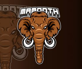 Mammoth sports and esports logo vector